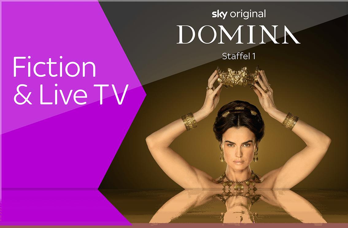 Sky X Fiction und Live TV streamen
