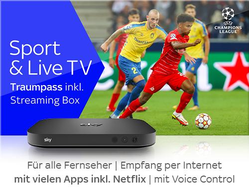 Sport & Live TV mit Streamingbox
