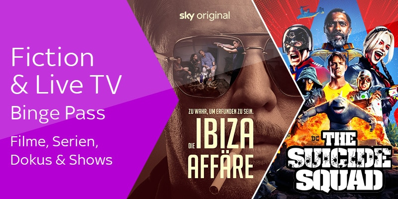 Binge Pass Fiction & Live TV | Sky X