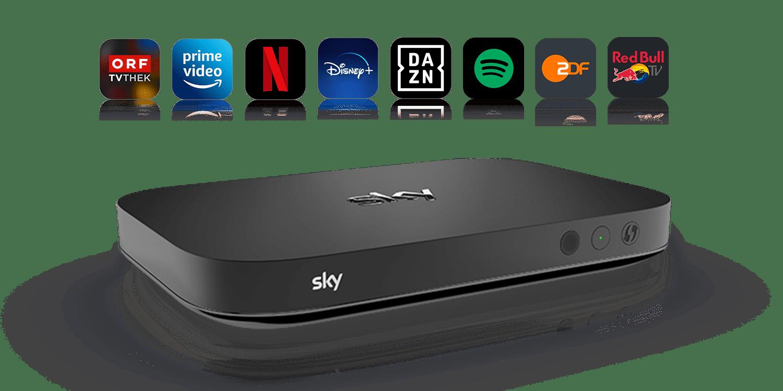 Ohne Smart TV mit Sky X Streaming Box online schauen