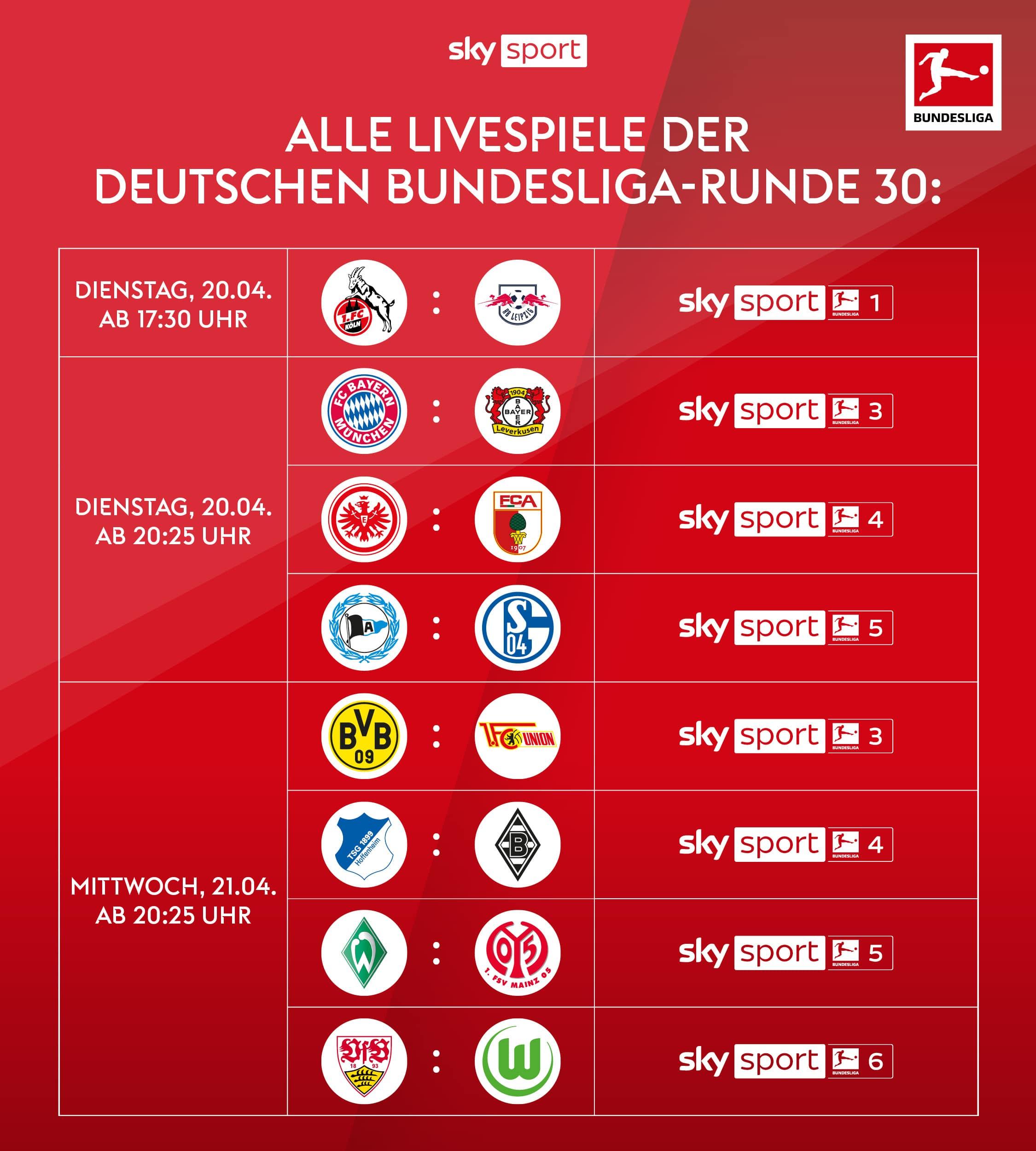 Die Deutsche Bundesliga live streamen mit Sky X