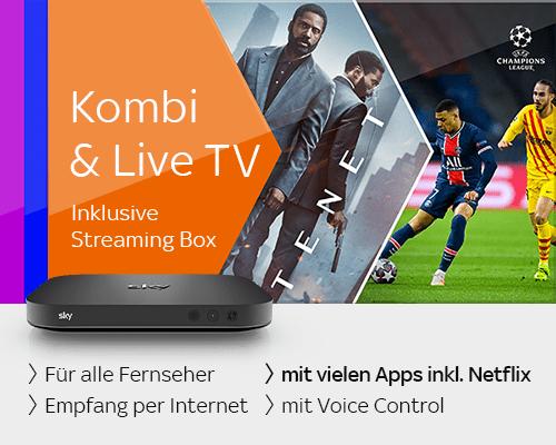 Kombi & Live TV mit Streamingbox