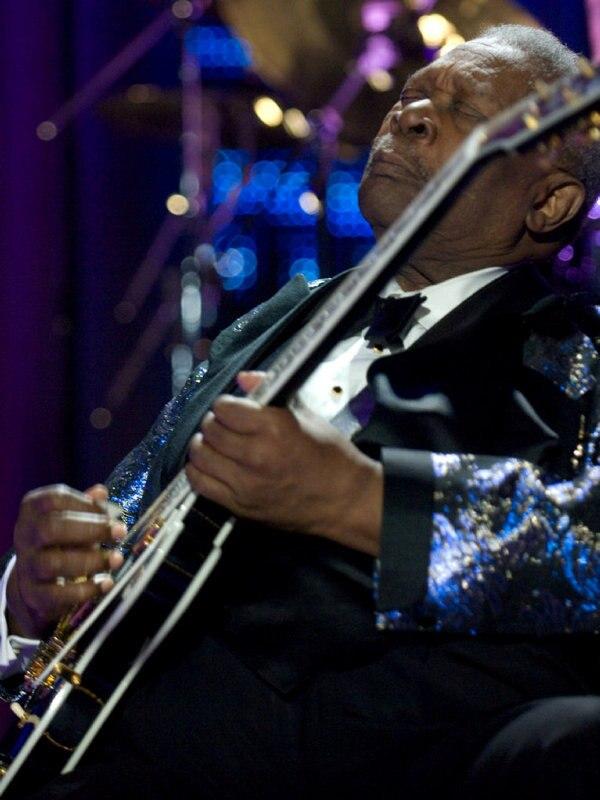 B.B. King mit Solange und Richie Sambora