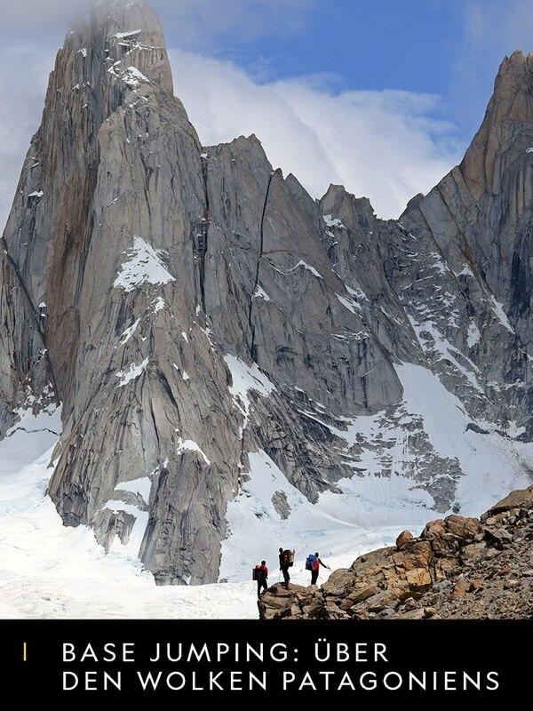 Base-Jumping über den Wolken Patagoniens