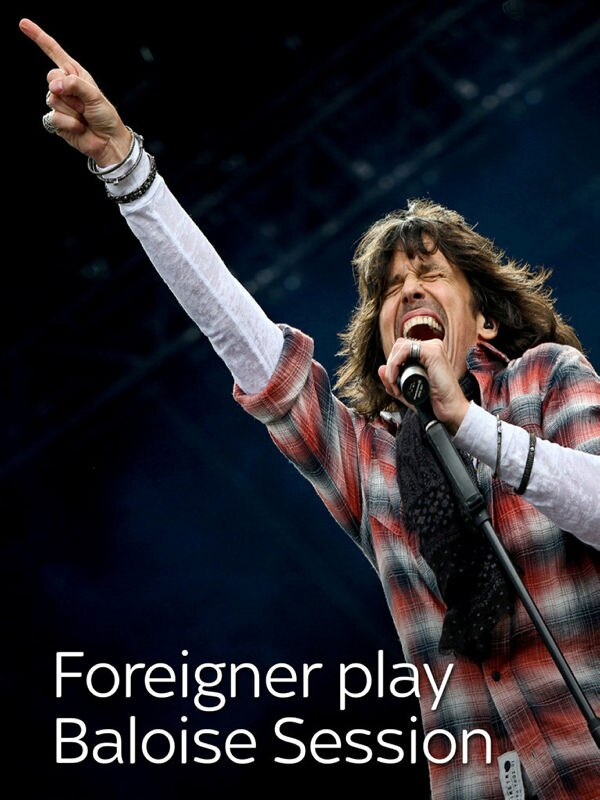 Foreigner play Baloise Session